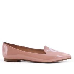 Pink patent ballerina