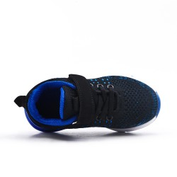 Basket enfant bleu en toile extensible