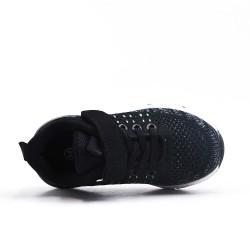 Basket enfant noire en toile extensible