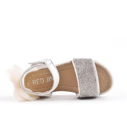 White girl sandal with rhinestones