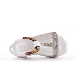 White girl sandal with rhinestones