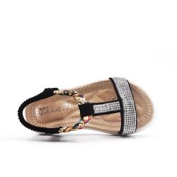 Black girl sandal with rhinestones