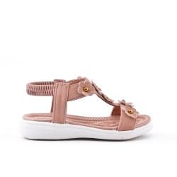 Pink girl sandal with flower