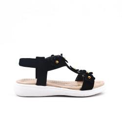 Black girl sandal with flower