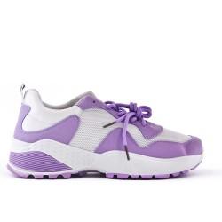 Basket basse violet à lacet