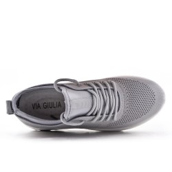 Basket en toile grise à lacet