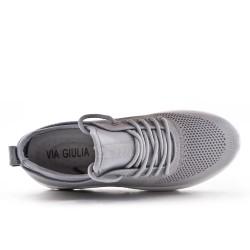 Basket in grayblace fabric