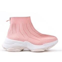 Basket montante rose à enfiler