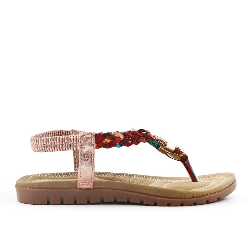 a9136b2fc1df Tong champagne sandal with braided strap