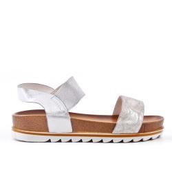 Sandalia plata con suela confort