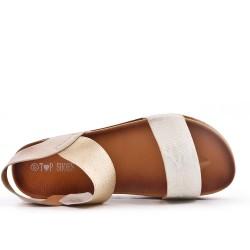 Sandalia oro con suela confort