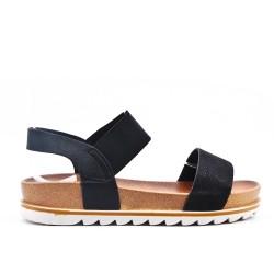 Sandalia negra con suela confort