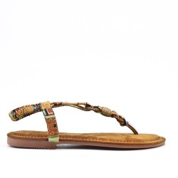 Floral print sandal