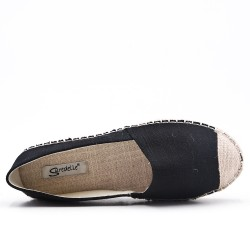 Black canvas espadrille