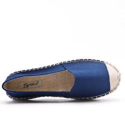 Blue canvas espadrille