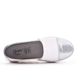 White leather moccasin
