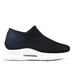 Black sneaker in stretch lace fabric