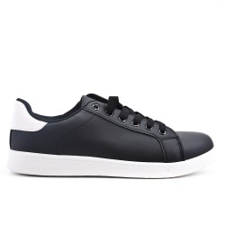 Black sneaker with lace in large size