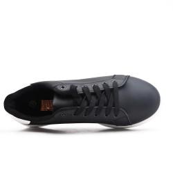 Basket noire à lacet grande taille