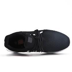 Basket noire en tissus extensible à lacet