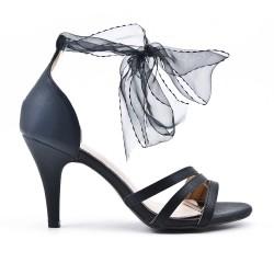 Black ribbon sandal