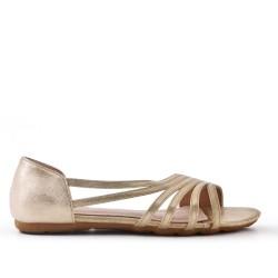 Golden comfort ballerina in faux leather