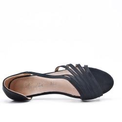 Bailarina de confort negro en piel sintética