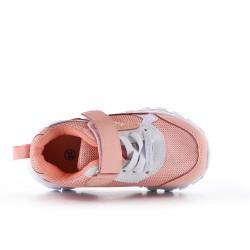 Canasta infantil rosa con suela dentada