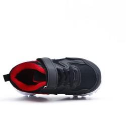 Basket enfant noire à lacet