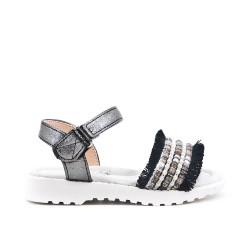 Sandale fille à perle