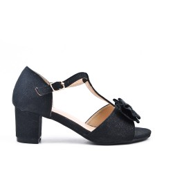 Black girl sandal with small heels