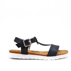 Sandal black girl in leatherette