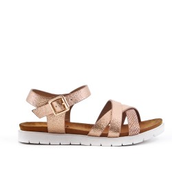 Girl sandal pink with crossed straps