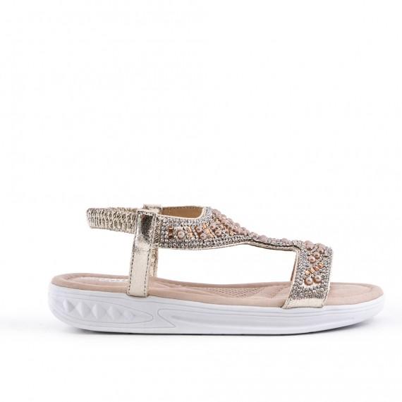 Niña sandalia perla oro
