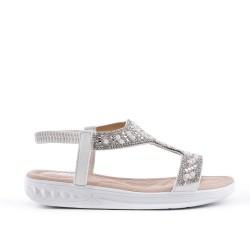 Sandal girl white pearl