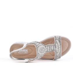 Sandale fille blanc à perle