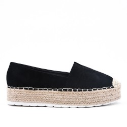 Disponible en 6 couleurs -Espadrille en simili daim