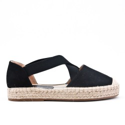 Blue espadrille in faux suede