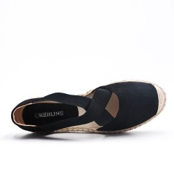 Disponible 5 couleurs -Espadrille en simili daim