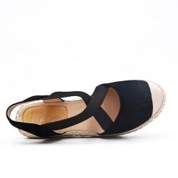 Disponible 5 couleurs - Sandale compensée à semelle espadrille