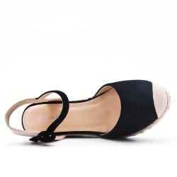 Disponible 7 couleurs - Sandale compensée à semelle espadrille