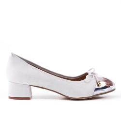 Large size - White knotted pump