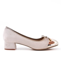 Large size - Beige knotted pump