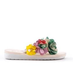 Pinzas de flor beige
