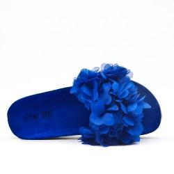 Aleta blue con flor