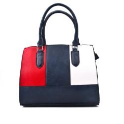 Tricolor handbag