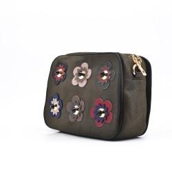 Crossbody bag with flowers