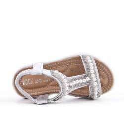 Sandal girl silver pearl