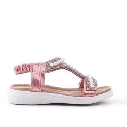 Niña sandalia perla rosa