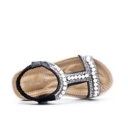 Niña sandalia perla negro